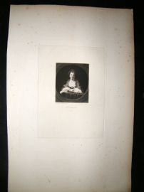 After Joshua Reynolds C1830 Folio Mezzotint. Mrs Irwin, Pretty Lady